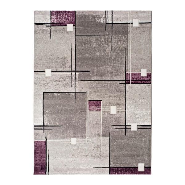 Šedofialový koberec Universal Detroit, 140x200cm