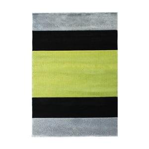 Šedozelený koberec Tomasucci Strip, 140x190cm
