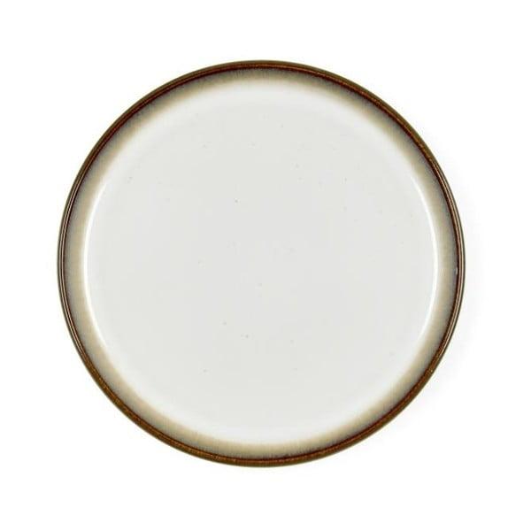 Krémově bílý kameninový dezertní talíř Bitz Mensa, průměr 21 cm