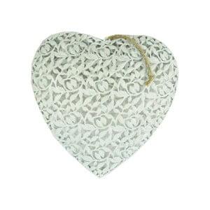 Závěsná dekorace Antic Line Heart, 27x27cm