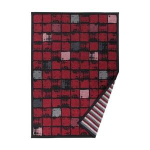 Červený vzorovaný oboustranný koberec Narma Telise, 70x140cm