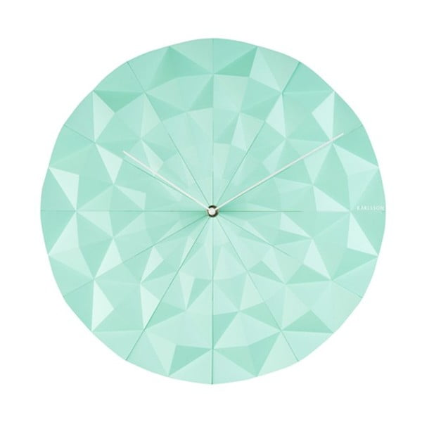 Hodiny Facet, mint green