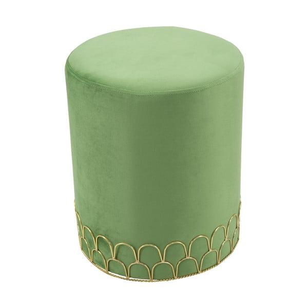 Zelená taburetka Mauro Ferretti Valerio, ø 35 cm
