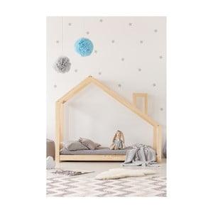 Cadru pat din lemn de pin, în formă de căsuță Adeko Mila DMS, 135 x 190 cm