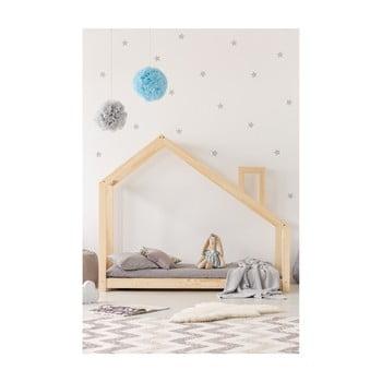 Cadru pat din lemn de pin, în formă de căsuță Adeko Mila DMS, 140 x 200 cm