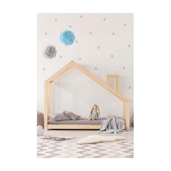 Cadru pat din lemn de pin, în formă de căsuță Adeko Mila DMS, 120 x 180 cm