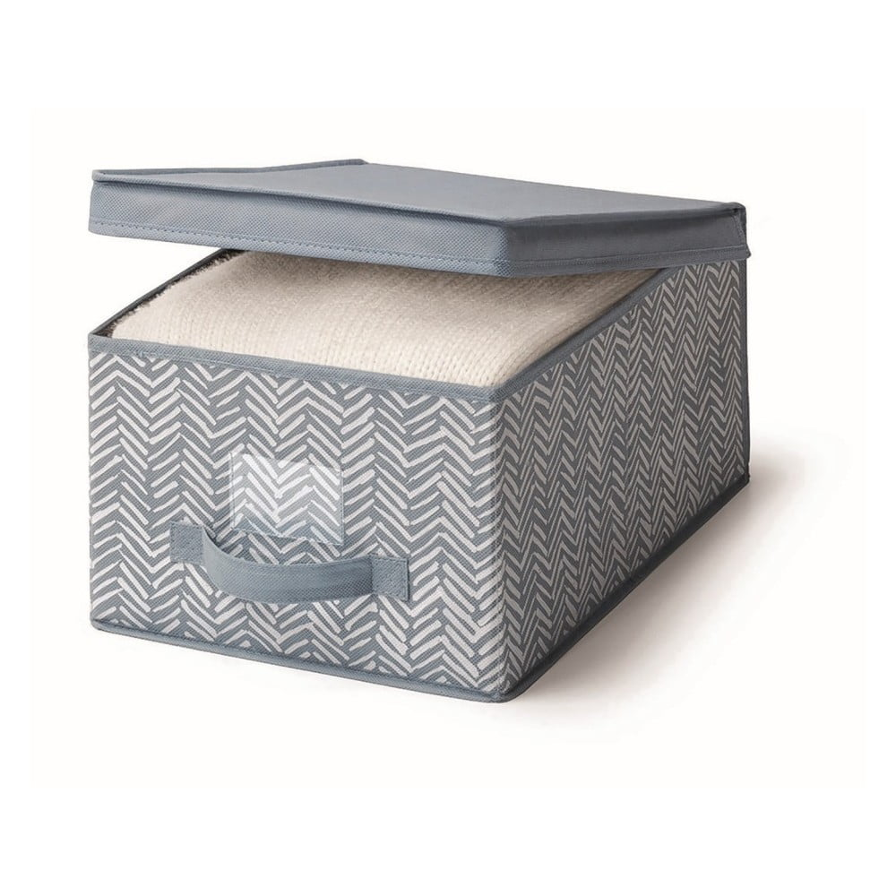 Modrý úložný box s víkem Cosatto Tweed, šířka 30 cm