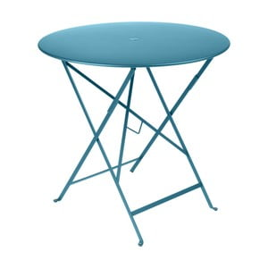 Modrý zahradní stolek Fermob Bistro, Ø 77 cm