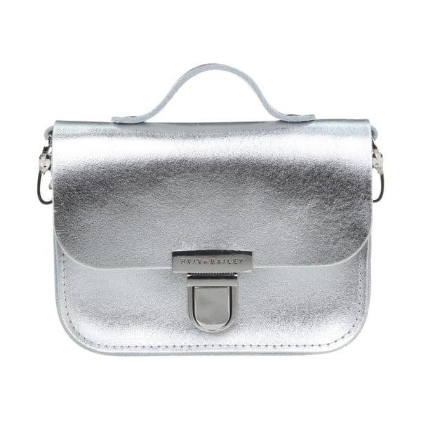 Kožená menší kabelka Alton Silver