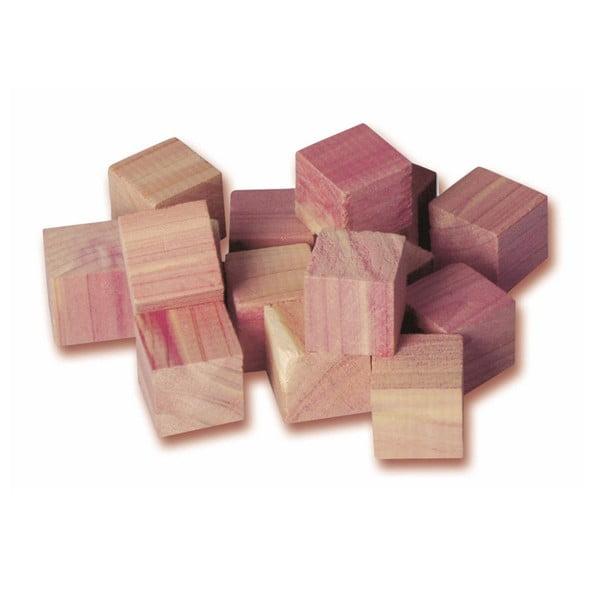 Sada 16 kostek z cedrového dřeva do šatní skříně Compactor