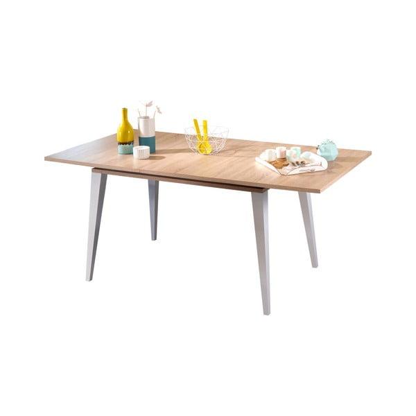 Světle hnědý rozkládací jídelní stůl Symbiosis Prism