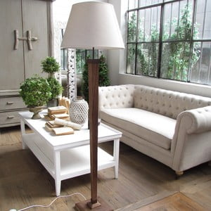 Stojací lampa White Antique Fusion