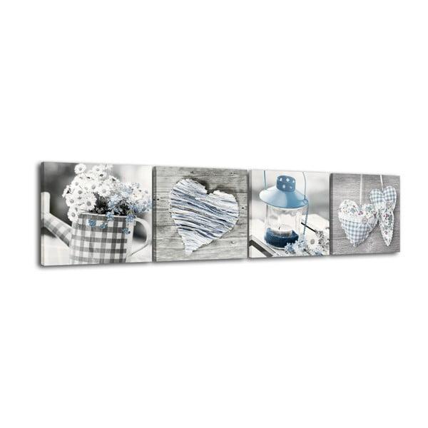 Shabby Blue többrészes fali kép, 32 x 32 cm - Styler