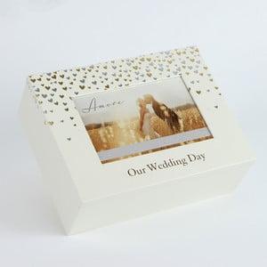 Úložný box s rámečkem na fotografii Amore Little Hearts, profotografii10x15cm