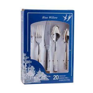 Sada 20 ks příborů Churchill China Blu Willow