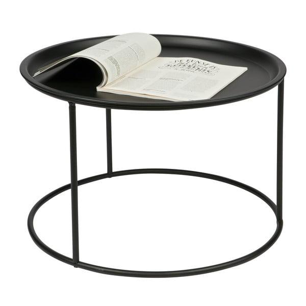 Măsuță de cafea WOOOD Ivar L, Ø 56 cm, negru