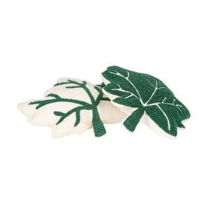 Sada 2 zeleno-bílých polštářů Nattiot Erable