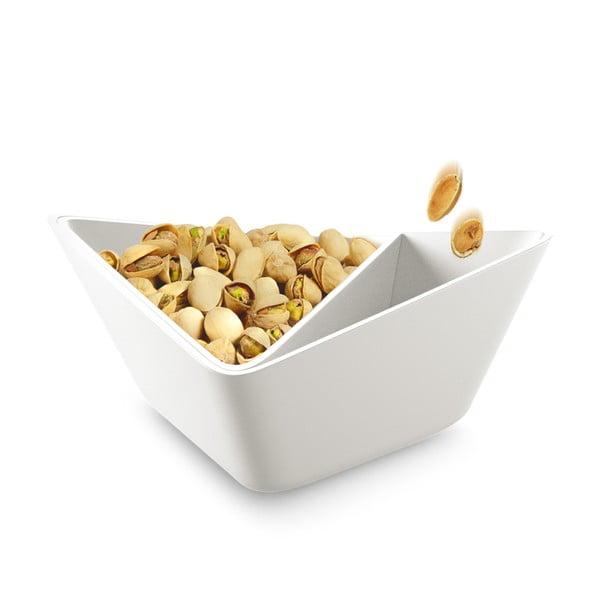 Trojitá servírovací miska Nut+Olive Bowl, bílá