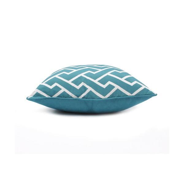 Față de pernă albastră WeLoveBeds Maze, 60 x 60 cm