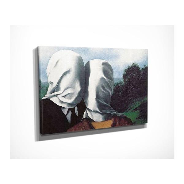 Vászon fali kép Rene Magritte The Surrealist Love and Bizarre Romance másolat, 40 x 30 cm