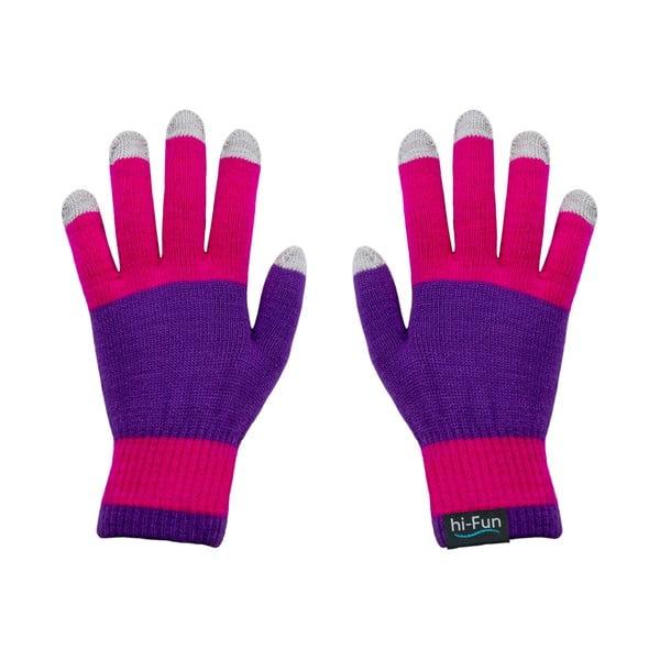 Hi-Glove Rukavice na dotykové displeje, růžová