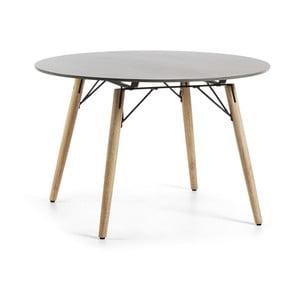 Măsuţă rotundă La Forma Tropo, Ø 120 cm, gri deschis