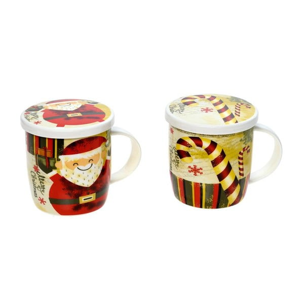 Set 2 hrnků Christmas Coaster