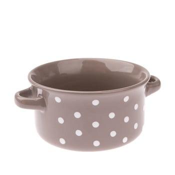 Bol din ceramică cu buline Dakls, 560 ml, gri