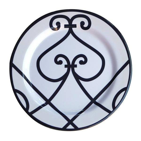 Zestaw 6 talerzy melaminowych Sunvibes Arabesque, ⌀ 25 cm