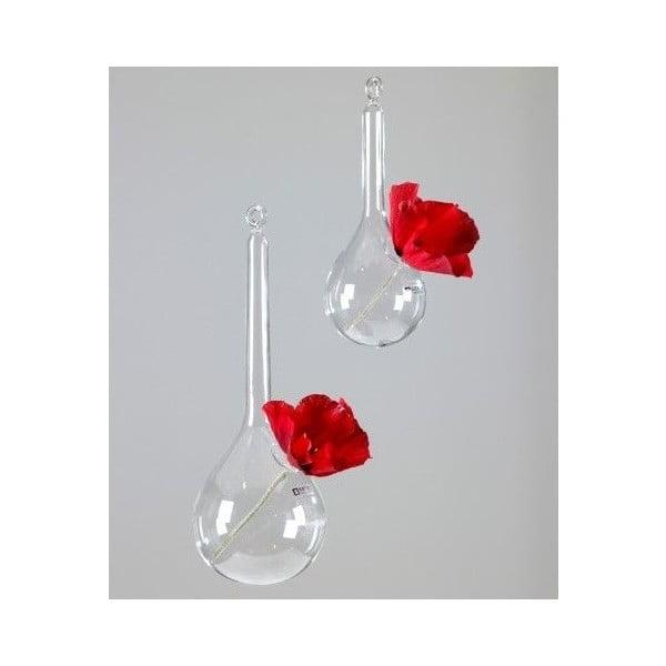 Sada 2 závěsných skleněných váz Bird
