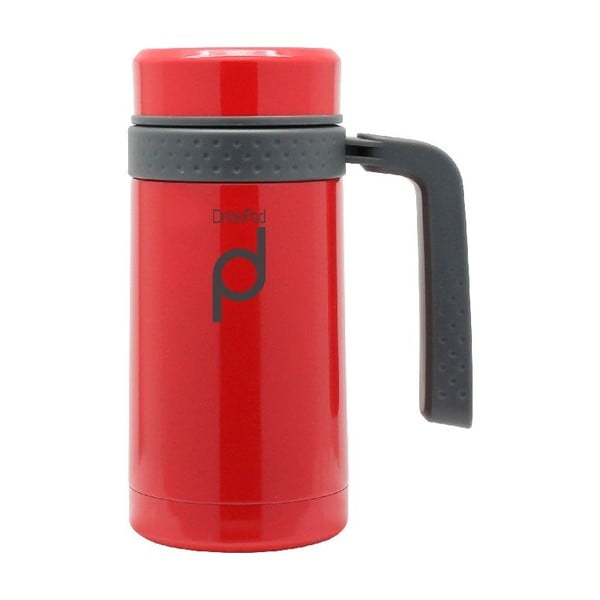 Červený termohrnek Pioneer Drinkpod , 450 ml