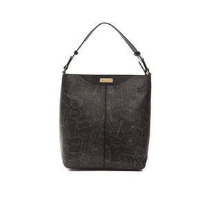 Černá kožená kabelka Alviero Martini Nero