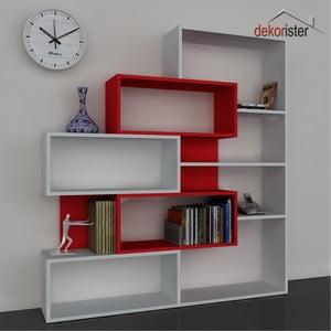 Knihovna Marla Book White/Red, 25x139,1x151,2 cm