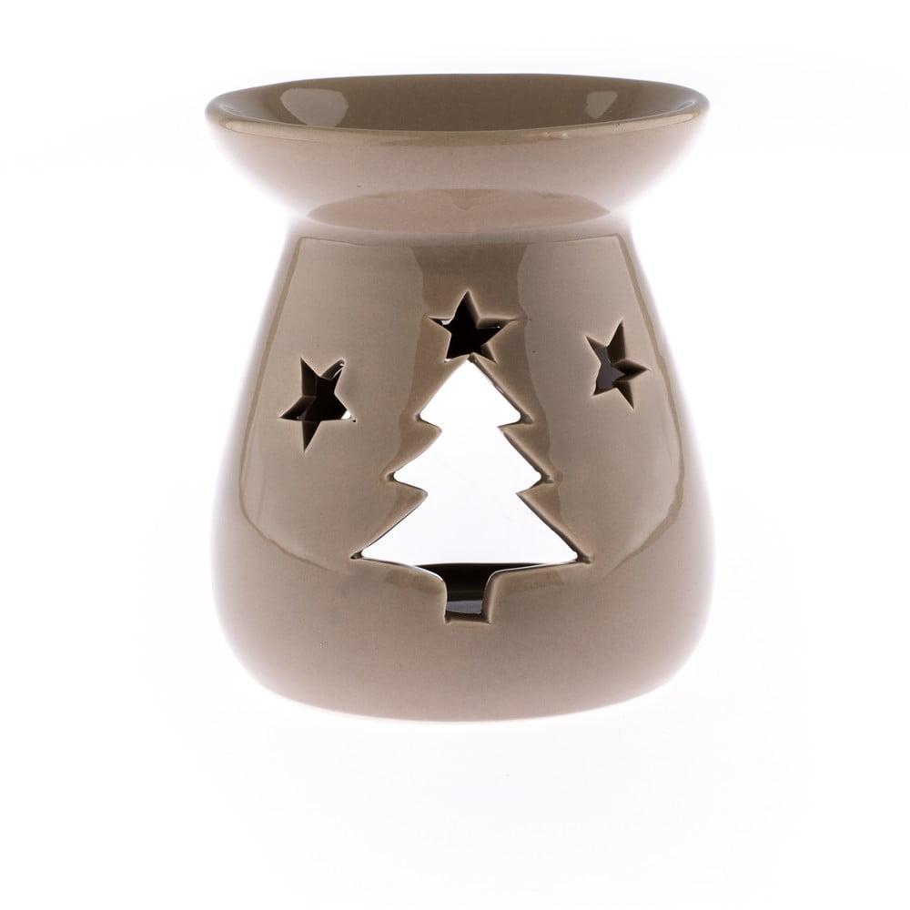 Světle hnědá keramická aromalampa Dakls