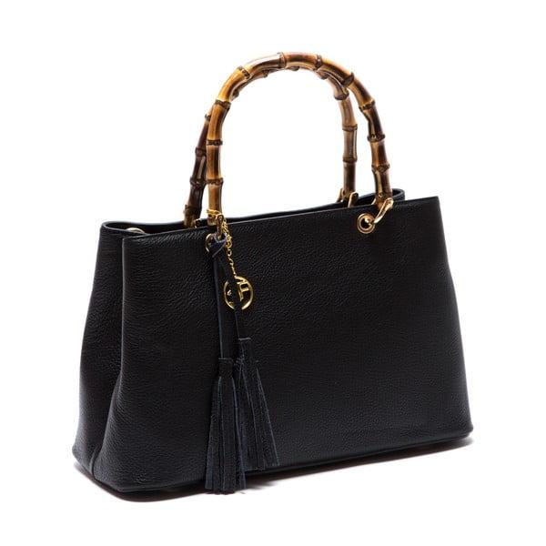 Kožená kabelka Cerla, černá