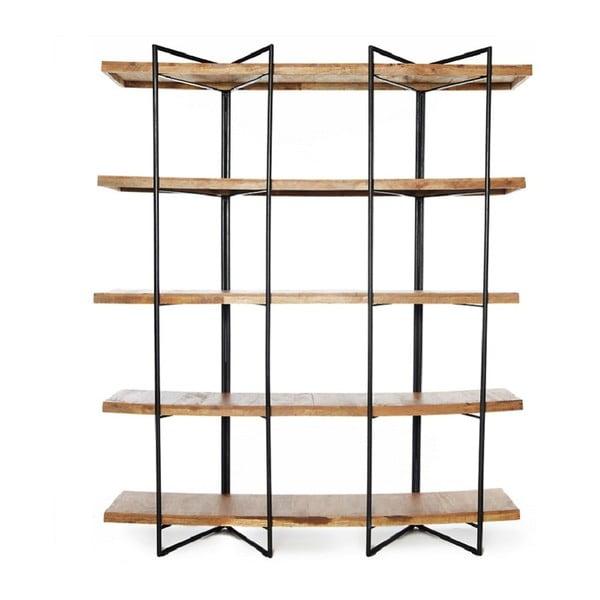 Raft podea cu 5 etaje din lemn de mango Simla Factory, înălțime1,8m