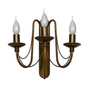 Trojramenné nástěnné svítidlo v zlaté a měděné barvě Cierge