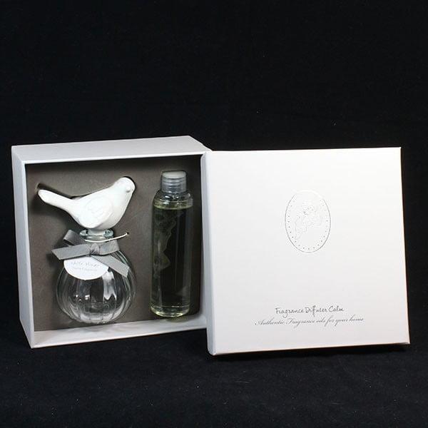 Parfémovaný jíl ptáček 100 ml - bílá květina