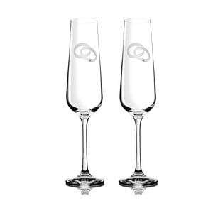 Sada 2 šampaňských fléten Agape se Swarovski Elements v luxusním balení