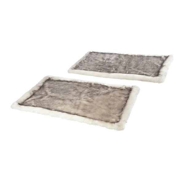 Sada 2 hnědých koberců k posteli Mint Rugs Soft, 90 x 140 cm