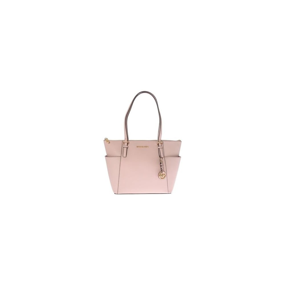 1aebe0699a67 Geantă din piele Michael Kors Jet Set, roz deschis | Bonami