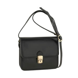 Černá kožená kabelka Ore Diece Agrigento