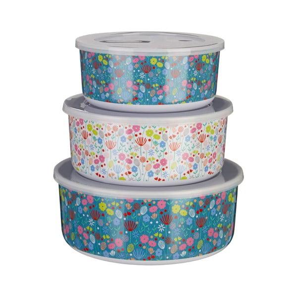 Casey virágmintás tárolódoboz, 3 db - Premier Housewares