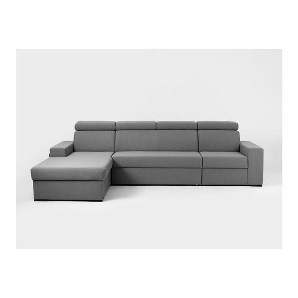 Canapea colțar cu șezlong pe partea stângă Custom Form Atlanta, gri