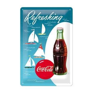 Plechová cedule Refreshing Coca Cola