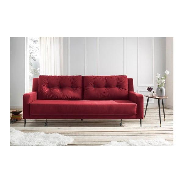 Bergen piros kinyitható kanapé - Bobochic Paris