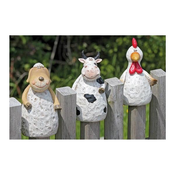 Sada 3 dekorací na plot Fence