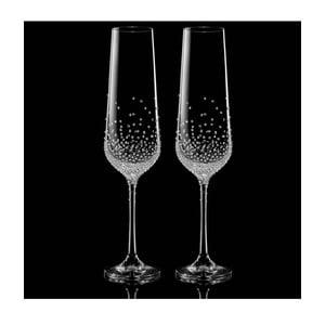 Sada 2 šampaňských fléten Gaia se Swarovski Elements v luxusním balení