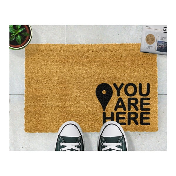 Covoraș intrare din fibre de cocos Artsy Doormats You Are, 40 x 60 cm