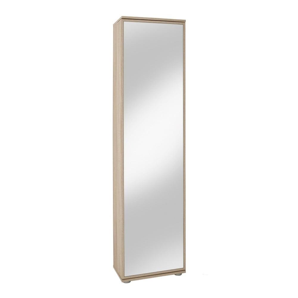 Botník v dekoru dubového dřeva se zrcadlem 13Casa Vienna